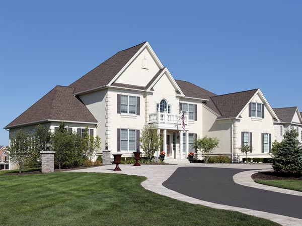 large two story residential home